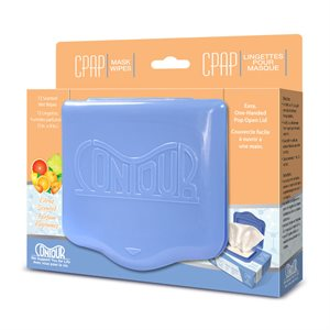 Contour Flat Pack CPAP Wipes, Citrus Scent 72 Wipes/Pack, Qty 1