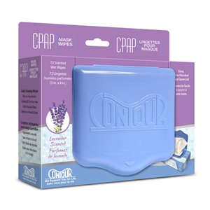 Contour Flat Pack CPAP Wipes, Lavender Scent 72 Wipes/Pack, Qty 1