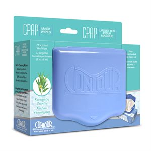 Contour Flat Pack CPAP Wipes, Eucalyptus Scent, 72 Wipes/Pack