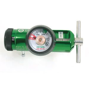 Oxygen Regulator Mini 870 Yoke Style w/hose barb 0-15 lpm