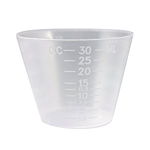 Medicine Cup 1 OZ PLASTIC Qty 1 Pack, ( 100 ea/Pack)