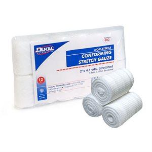 Bandage Conform Gauze 2in N/S Stretch Rolls x 12 Rolls