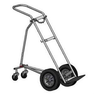 Large Cylinder 4 Wheeled Tripod Cart