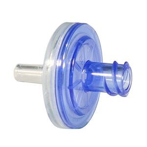 Hydrophobic Filter with Blue Luer lock / clear slip connectors, Qty 100