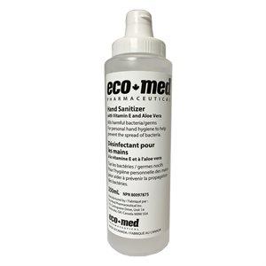 Eco-Med Hand Sanitizer, 250 ml (8.5 oz), with flip cap, Bottle