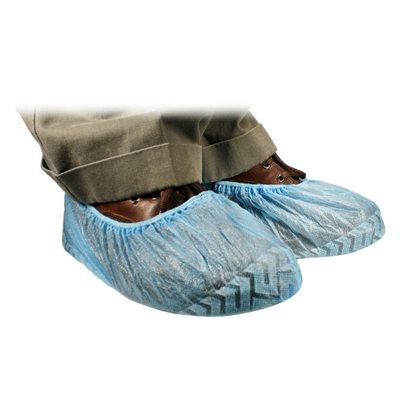Shoe Cover, Universal Fit, Non Skid Blue, 100/Box