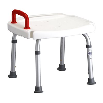 Shower Chair without Back w/Red Handle Qty 2