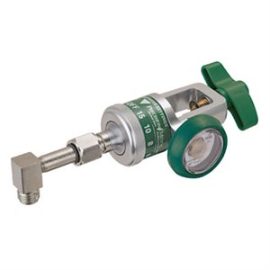 Easy Dial Regulator, 0-15 LPM DISS Outlet 90 Degrees with extension