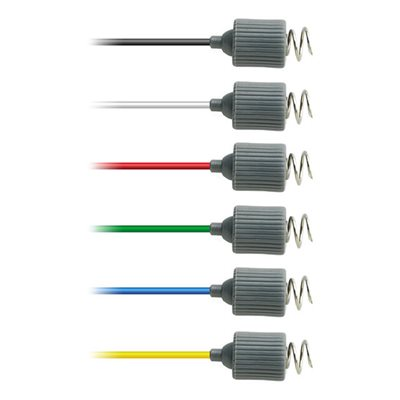 "Rhythmlink Disp. Corkscrew Needle Electrode, .6 mm (23 g.), lead 1.0 m (40"") 6 colour Qty 12"