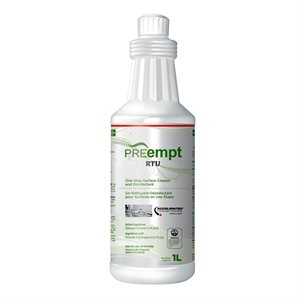 PREempt 1 litre ready to use surface disinfectant, Qty 1