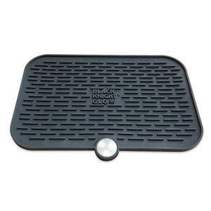 CPAPology Black Knight GLO Protector Mat, Black, Qty 1